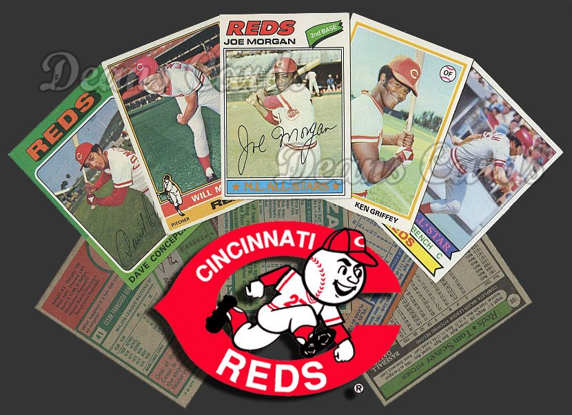 1975 Topps   -79  Cincinnati Reds Team Starter Set / Lot - Md